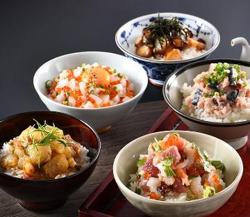 うお吟の海鮮丼全5種セット